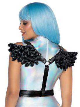 LA2764, Black Angel Wing Body Harness by Leg Avenue
