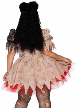 Leg Avenue | LA86924X, Voodoo Doll Plus Size Costume back view