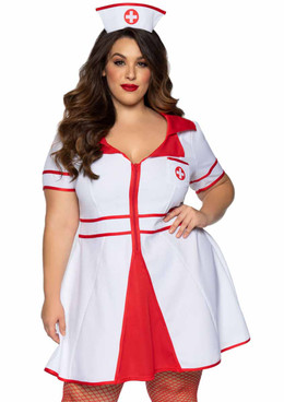 LA-86840X, Plus Size Hospital Honey Nurse Costume by Leg Avenue