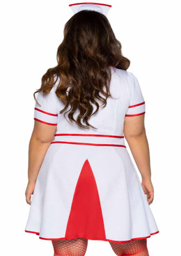 Plus Size Hospital Honey Nurse Costume back view by Leg Avenue | LA-86840X