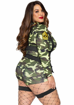 Leg Avenue | LA-85292X, Plus Size Goin' Commando Costume back view
