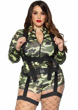 LA-85292X, Plus Size Goin' Commando Costume by Leg Avenue