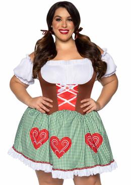 LA-86881X, Plus Size Bavarian Cutie Costume by Leg Avenue