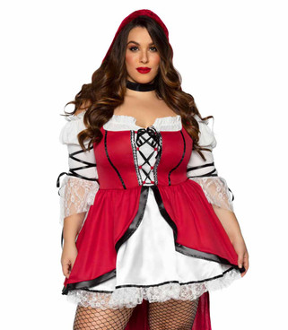 LA86905X, Plus Size Storybook Red Riding Hood Costume by Leg Avenue