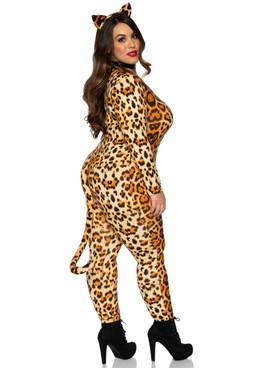 Leg Avenue | LA83666X, Plus Size Cougar Costume back view