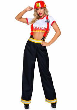 Sexy Five-Alarm Firefighter Costume by Leg Avenue   LA-86953