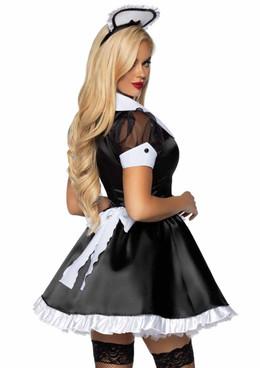 Leg Avenue   LA-86922, Classic French Maid Costume Back View