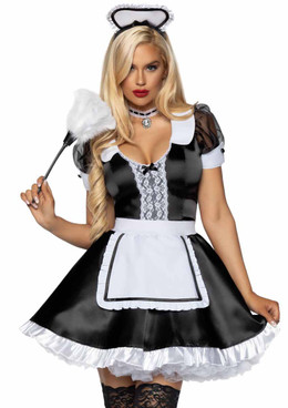 LA-86922, Classic French Maid Costume by Leg Avenue