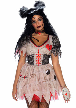 LA86924, Deadly Voodoo Doll Costume by Leg Avenue