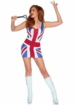 LA86909, British Flag Costume by Leg Avenue