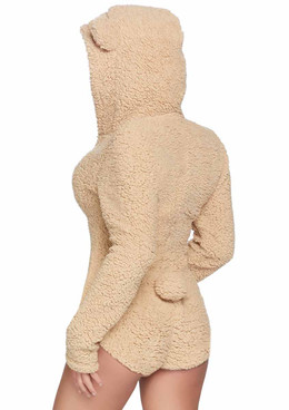 Leg Avenue | LA-86952, Teddy Bear BodySuit Costume back view