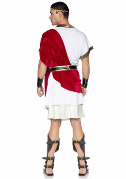 LA86949, Caesar Men Costume back view by Leg Avenue