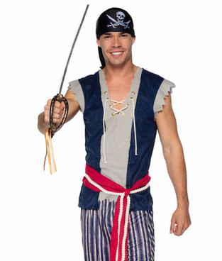Leg Avenue | LA86940, Men's Plank Walking Pirate Costume