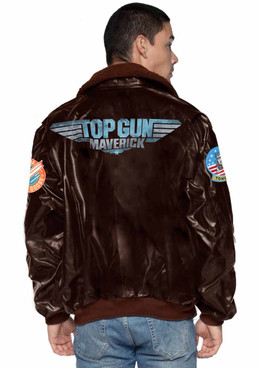 Men's Maverick Bomber Jacket back view Leg Avenue | TG86923