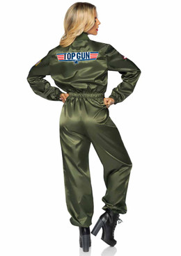 TG86931, Women's Parachute Flight Suit back view by Leg Avenue