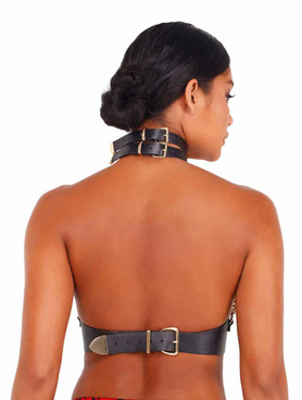 Roma LI415, Leatherette and Chain Holster back view
