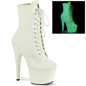 """Adore-1020GD, 7"""" Glow in the Dark Ankle Boots by Pleaser"""