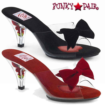 "Pin Up Couture | Belle-301BOW, 3"" Slide with Bow"