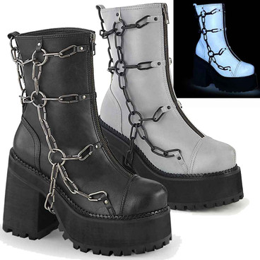 Demonia | Assault-66, Cleated Platform Ankle Boots