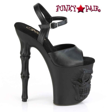 "RAPTURE-809, 8"" Skull & Bones Platform by Pleaser"