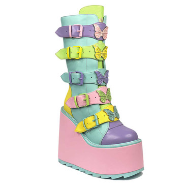 YRU | DUNE BUTTERFLY, 6 INCH PASTEL BUTTERFLY ACCENT BOOTS