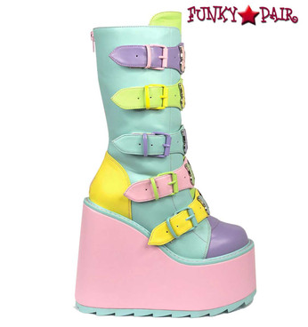 DUNE BUTTERFLY, 6 INCH PASTEL BUTTERFLY ACCENT BOOTS by YRU Boots