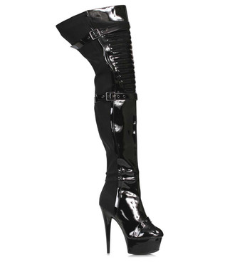 609-Shea, 6 Inch Thigh High Boots By Ellie Shoes
