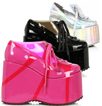 500-SUNNY, Chunky Platform Shoes By Ellie Shoes