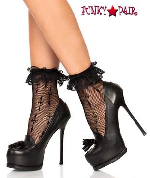 Leg Avenue LA-3049, Worship Me Cross Anklet Socks