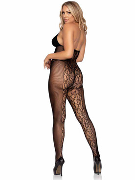 Leg Avenue | LA89280, Keyhole Halter Top Body stocking Back View