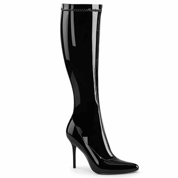 """CLASSIQUE-2000, 4"""" Stretch Knee High Boots by Pleaser"""