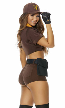 ForPlay | FP-551516, Precious Cargo Sexy Postal Delivery Costume Back View