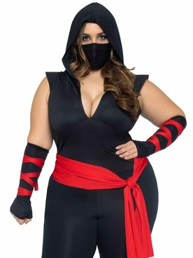 LA-85087X, Plus Size Deadly Ninja Costume By Leg Avenue