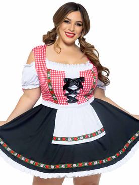 LA-86746X, Plus Size Beer Girl Costume By Leg Avenue