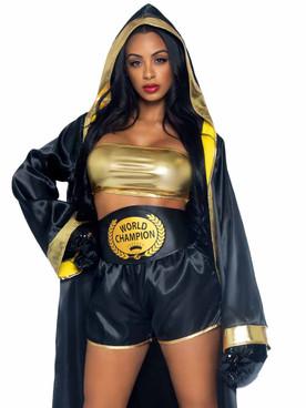 LA87065, Prize Fighter Costume By Leg Avenue