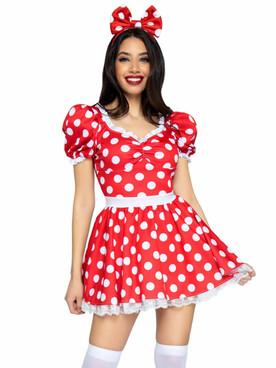 Polka Dot Sweetheart Dress LA87087 By Leg Avenue