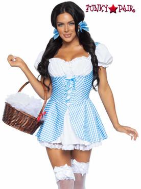 Leg Avenue   LA86988, Gingham Dress with Split Skirt