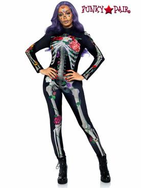 Leg Avenue | LA87066, Floral Skeleton Catsuit