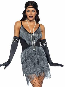 LA86980, Dazzling Flapper Costume By Leg Avenue