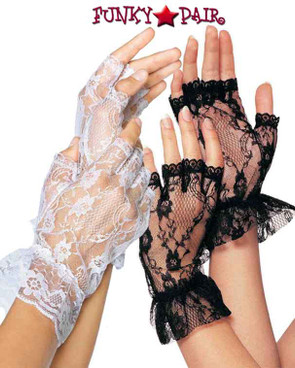 Fingerless Lace Gloves | Leg Avenue LA-G1205 color available : white and black