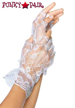 White Fingerless Lace Gloves | Leg Avenue LA-G1205