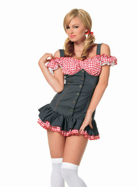 sexy cowgirl cowboy costumes 83181 Mary Lou Peasant Top Dress