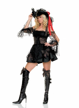 Captain Marauder Costume Leg Avenue Skull Buccaneer 14-16 Pirate Wench