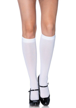 Nylon opaque knee highs by Leg Avenue | LA-5572