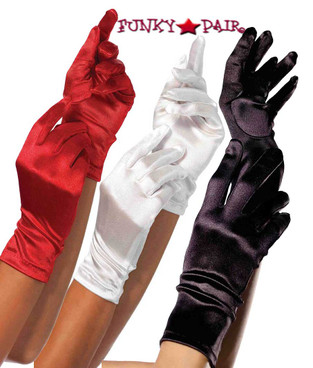 2B, Satin Wrist Length Gloves