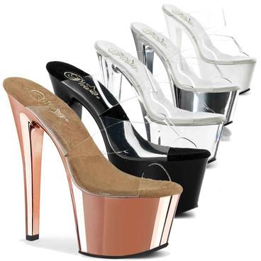 "SKY-302, 7"" Double Strap Dancer Heel by Pleaser USA"
