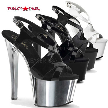 Pleaser | SKY-330, Criss Cross Exotic Dancer Shoes