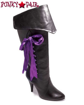418-Pirate, Women's Pirate Boot with Purple Lace by Ellie Shoes