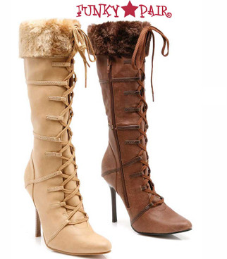 Ellie Shoes | 433-Viking 4 Inch Boot With Fur