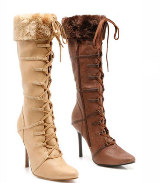 433-Viking 4 Inch Boot With Fur | 1031 Costume Boots